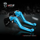 MZS Short Brake Clutch Levers for Yamaha XSR700 XSR900 ABS XV950 Racer R1 Blue