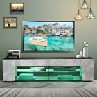 57 TV Stand Cabinet Modern Entertainment Center with LED Lights Console Table