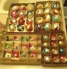 GORGEOUS MIXED LOT 48 VINTAGE ANTIQUE BLOWN GLASS UNMARKED CHRISTMAS ORNAMENTS