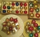 50 GORGEOUS VINTAGE ANTIQUE BLOWN GLASS RARE UNMARKED BALLS CHRISTMAS ORNAMENTS