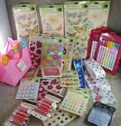 STICKERS Scrapbooking RIBBONS Lot of 26 K  Co NEW IN PACKAGE Markers LETTERS