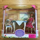 1999 Barbie Tea Time With Her Friends Dining Room Furniture Playset HTF