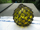 Japanese Glass Fish Floats Lt Yellow Sunrise Large