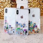 Liquid Glitter App Icons Bling Quicksand Case Cover For Apple iPhone SE 11 X 8 7