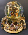 Large Musical Water Snow Globe Revolving Base Christmas Nativity Scene Ornate