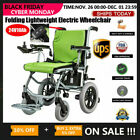 New Folding Lightweight Electric Power Wheelchair Mobility Aid Motorized 24V10Ah