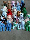 Beanie Babies Lot Of 22 Bears Dearest, Peace, Halo, Curly, The End, Kicks, Erin+