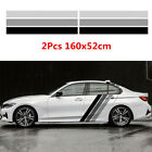 Car Body Both Side Tricolor Lines Customized Long Stripes Sticker Graphics Decal
