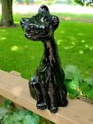 Tiffin Glass Sassy Susie Orginal Fenton Alley Cat In RARE Black Shiny