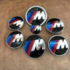 7pcs Set 8274mm4x68mm45mm For Bmw Carbon Fiber Emblems Badge Decal Logo