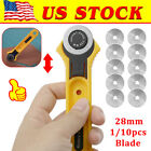 Rotary Cutter With 28mm Blade Sewing Quilters Fabric Leather Cutting Tool Set