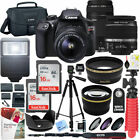Canon T6 EOS Rebel DSLR Camera w 18 55mm IS II + 75 300mm III Double Zoom Kit