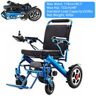 Electric Wheelchair Power Folding Medical Mobility Old Elderly Disabled Aid Blue