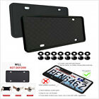 Black Silicone Rubber Car License Plate Frame Cover Front Or Rear US Size 2PCS
