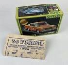 1969 AMT Ford Torino Box Only! Plus Official Blue Print Instruction Sheet.