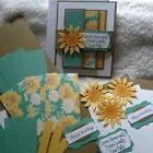 Stampin Up Card Kit CELEBRATE SUNFLOWERS Live Fully Friend Happy Birthday CTMH