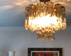Magnificent VINTAGE MURANO Glass Multi Tube VENINI  CEILING LIGHT CHANDELIER
