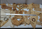 4 Pounds Tanned Deer Suede Leather Hide Scraps Native Crafts Buckskin