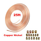 3 16 OD Copper Nickel Car Brake Line Coil 25 Ft Roll With 16 Nut Fittings Kit