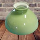 Old Large Lampshade Opal Glass Frosted Ancien Grand Abat Jour Verre Opalin vert