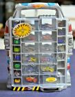 Hotwheels Micro Mini Carrying Case with 24 Cars Wonder Woman Flash Superman