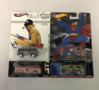 HOT WHEELS LOT OF 4 VOLKSWAGEN BUS STAR TREK STAR WARS EVENING POST SUPERMAN