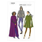 Vogue V8959 Misses Lined Capes Sewing Pattern Size 6 14 or 14 22