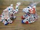 Ty Beanie Babies Lefty 2004 Donkey Righty 2004 Elephant Election Red White Blue