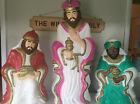 Nativity SET OF THREE Wise Men Blow Molds Lighted Christmas Grand Venture