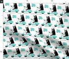 Bears On Scooters Cute Animal Scooter Moped Fabric Printed by Spoonflower BTY