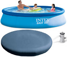 NEW Intex Above Ground Swimming Pool+Filter Pump+Lightweight Round Cover