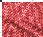 Red Motor Scooters Vintage Retro Scooter Moped Fabric Printed by Spoonflower BTY