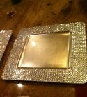 Square Gold Rhinestone Plate Chargers set of 4