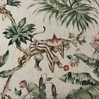 Cheeky Monkey Printed Linen 280cm Wide Double Width Curtain upholstery Fabric