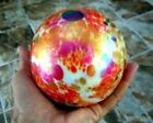 HUGE ART DECO VIBRANT ANTIQUE GLASS PAPERWEIGHT SIGNED AND DATED 1925