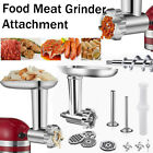 Stainless Steel Meat Grinder Sausage Stuffer Attachment Kit For Stand Mixer