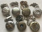 Lot of 7 Quartz Pocket Watches. running with new batteries. NR