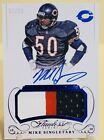2015 Flawless Mike Singletary 3 Color Patch Auto Autograph 7 20 Chicago Bears!!