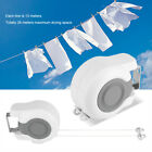 Wall Mounted Retractable Clothesline Clothes Line Washing Drying Rope Rack Home