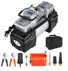 Double Cylinder Air Pump Compressor Car Auto Tire Inflator 12V Heavy Duty