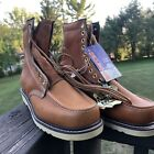 Vintage NOS Sub Zero Tan Leather Motorcycle Logger Work Boots Size 105