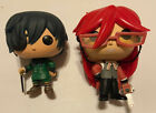 Funko Pop! Animation Black Butler Grell #18 Ciel #17 - OOB Loose Figures