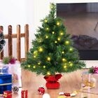NEW 24 Fir Artifical Christmas Tree with LED Lights Tabletop Decorations
