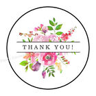 30 THANK YOU PINK FLOWERS ENVELOPE SEALS LABELS STICKERS PARTY FAVORS 15 ROUND