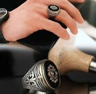 Turkish 925 Sterling Silver Handmade Jewelry Mens Ring Onyx Stone All Size TR