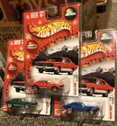 SET HOTWHEELS LARRY WOODS LIMITED EDITION HOLIDAY RODS 67 CAMARO BLUE RED GREEN