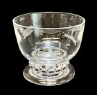 Steuben Glass Acid Etched Footed Bowl by Sidney Waugh Transportation 1942
