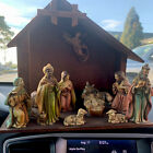 Vintage Nativity Scene Manger With Figurines Made In Japan