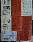 CLUB SCRAP Rubber Stamps Use  NEW UNMOUNTED Lot of 8