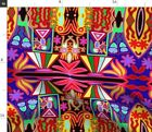 Mexico Native Huichol Spoonflower Fabric by the Yard